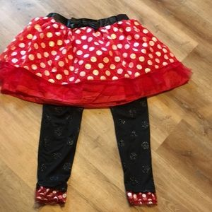 Adorable Disney Minnie Mouse Skirt and leggings